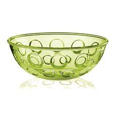 forme casa Plastová mísa na salát 25cm zelená transparentní - Mísa