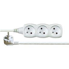 Emos prodlužovací 250V, 3x zásuvka, 2m bílý - Napájecí kabel