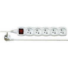 Emos prodlužovací 250V, 5x zásuvka, 2m, bílý - Napájecí kabel