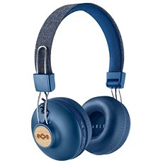 House of Marley Positive Vibration 2 wireless - denim - Sluchátka s mikrofonem