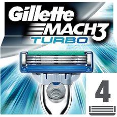 GILLETTE Mach3 Turbo 4 ks - Pánské náhradní hlavice