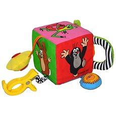 Textilní kostka pro nejmenší - Krtek - Didaktická hračka