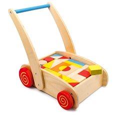 Chodítko - Dřevěné kostky ve vozíku - Chodítko