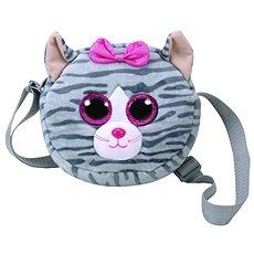 Ty Gear shoulder bag Kiki - grey cat 15 cm - Plyšová hračka