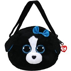 Ty Gear shoulder bag Tracey - black/white dog 15 cm - Plyšová hračka