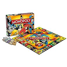 Monopoly DC Comics Retro, ENG - Společenská hra