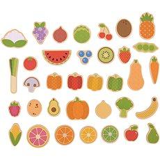 Bigjigs Toys Magnetky Ovoce a zelenina - Dekorace do dětského pokoje