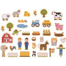 Bigjigs Toys Magnetky Farma - Dekorace do dětského pokoje