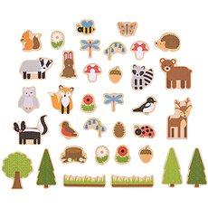 Bigjigs Toys Magnetky Lesní zvířátka - Dekorace do dětského pokoje