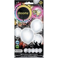 LED balónky - bílé 4 ks - Herní set