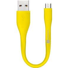 CONNECT IT Wirez Micro USB žlutý, 0.13m - Datový kabel