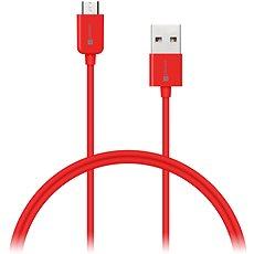 CONNECT IT Colorz Micro USB 1m červený - Datový kabel