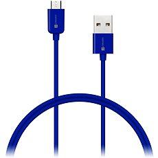 CONNECT IT Colorz Micro USB 1m modrý - Datový kabel