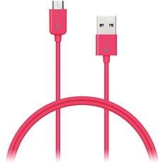CONNECT IT Colorz Micro USB 1m růžový - Datový kabel