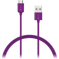 CONNECT IT Colorz Micro USB 1m fialový - Datový kabel