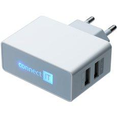 CONNECT IT CI-151 Dual Charger 230V bílá - Nabíječka