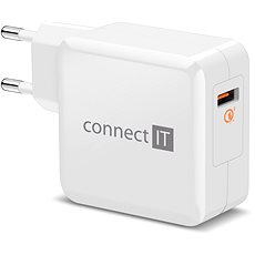 CONNECT IT InWallz QUALCOMM QUICK CHARGE 3.0 bílá - Nabíječka