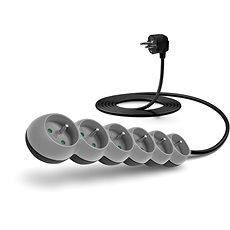 CONNECT IT prodlužovací 230V, 6 zásuvek, 3m, šedý - Napájecí kabel