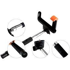 Gogen BT Selfie 2 teleskopická černá - Selfie tyč