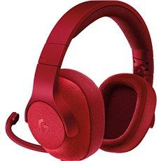 Logitech G433 Surround Sound Gaming Headset červený - Herní sluchátka