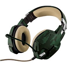 Trust GXT 322C Gaming Headset Green camouflage - Herní sluchátka