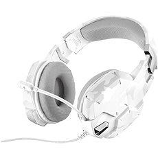 Trust GXT 322W Gaming Headset White camouflage - Herní sluchátka