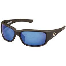 Mustad HP Polarized Sunglasses Black Vented Frame + Smoke Lens With Blue Revo - Brýle