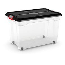KIS Moover Box XL - černý 60l - na kolečkách - Úložný box