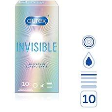 DUREX Invisible Extra Thin Extra Sensitive 10 ks - Kondomy