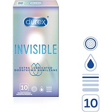DUREX Invisible Extra Thin Extra Lubricated 10 ks - Kondomy