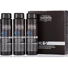 ĽORÉAL PROFESSIONNEL Homme COVER 5' 4 3 x 50 ml (4 - středně hnědá) - Barva na vlasy pro muže