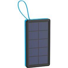 XLAYER Powerbank PLUS Solar 10000mAh černá/modrá - Powerbanka