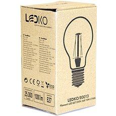 LEDKO FILAMENT E27 10W 2700K - LED žárovka