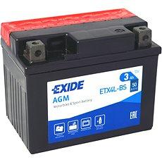 EXIDE ETX4L-BS, 12V, 4Ah, 50A - Motobaterie