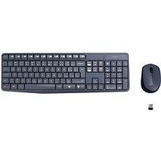 Logitech Wireless Combo MK235 CZ šedý - Set klávesnice a myši