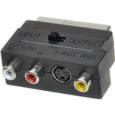 OEM scart - 3x cinch + S-video, přepínatelné IN/OUT - Redukce