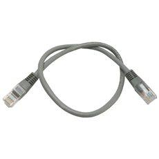 Datacom CAT5E UTP šedý 0.5m - Síťový kabel