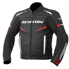 AYRTON Raptor, černá/červená fluorescentní/bílá - Bunda na motorku