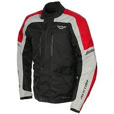 AYRTON Tonny, černá/šedá/červená - Bunda na motorku