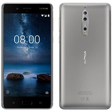 Nokia 8 Dual SIM Steel - Mobilní telefon