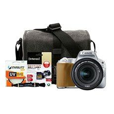 Canon EOS 200D stříbrný + 18-55mm IS STM + Canon Starter Kit - Digitální fotoaparát