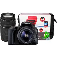 Canon EOS 200D černý + 18-55mm DC III + 75-300mm DC III + Canon Starter Kit - Digitální fotoaparát
