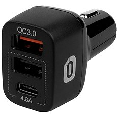 Odzu Car Charger With Quick Charge 3.0 Black - Nabíječka do auta