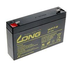 Long 6V 7Ah olověný akumulátor F1 (WP7-6) - Nabíjecí baterie