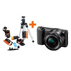 Sony Alpha A5100 černý + objektiv 16-50mm + Rollei Starter Kit - Digitální fotoaparát