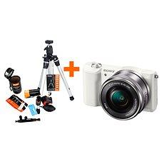 Sony Alpha A5100 bílý + objektiv 16-50mm + Rollei Starter Kit - Digitální fotoaparát