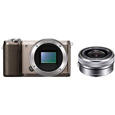 Sony Alpha A5100 hnědý + objektiv 16-50mm  - Digitální fotoaparát