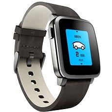 Pebble Time Steel Smartwatch černé - Chytré hodinky