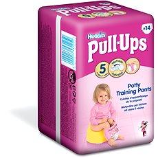 HUGGIES Pull Ups vel. 5 Medium - Girls (14 ks) - Plenkové kalhotky