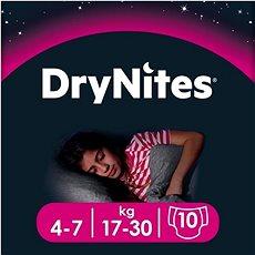 HUGGIES Dry Nites Medium 4–7 years Girls (10 ks) - Dětské pleny